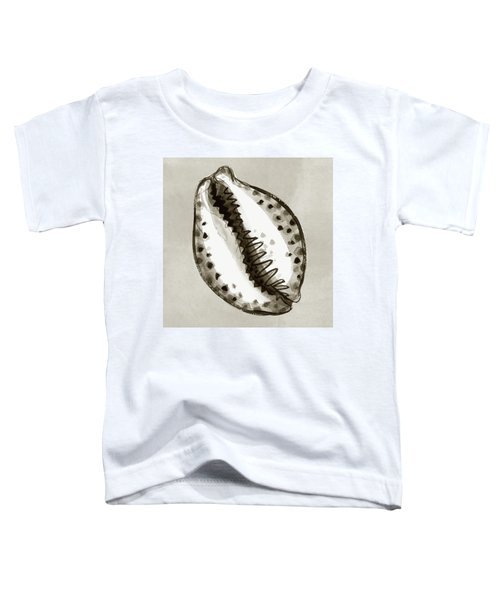 Toddler T-Shirt featuring the painting Tiger Cowrie by Judith Kunzle