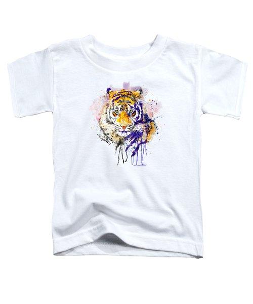 Tiger Head Portrait Toddler T-Shirt