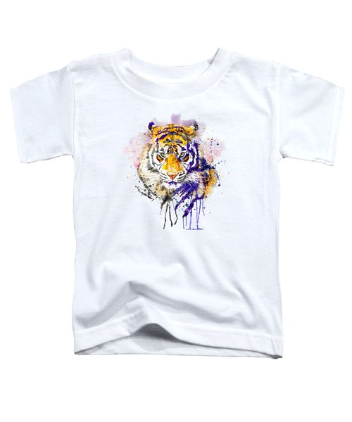 Tiger Head Portrait Toddler T-Shirt