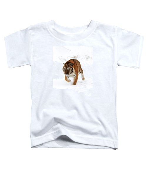 Tiger In Snow Toddler T-Shirt