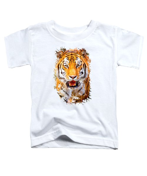 Tiger On The Hunt Toddler T-Shirt