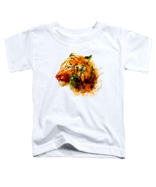 Tiger Side Face Toddler T-Shirt by Marian Voicu