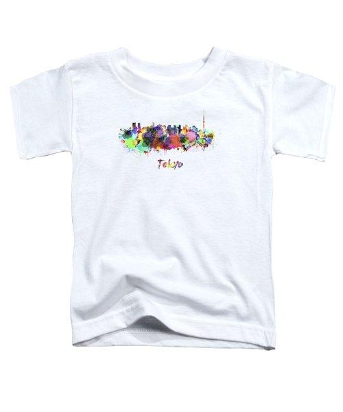 Tokyo V2 Skyline In Watercolor Toddler T-Shirt