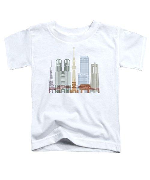 Tokyo V2 Skyline Poster Toddler T-Shirt by Pablo Romero