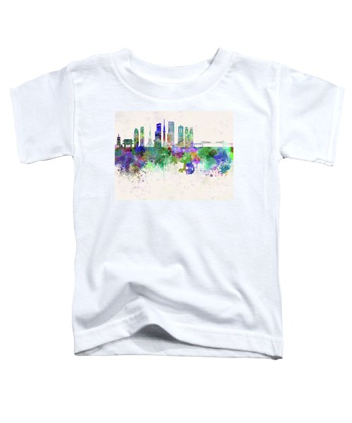 Tokyo V3 Skyline In Watercolor Background Toddler T-Shirt