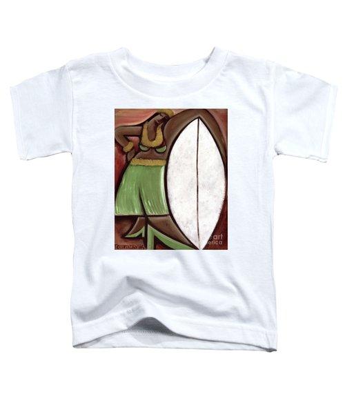 Tommervik Hula Girl Surfboard Art Print Toddler T-Shirt