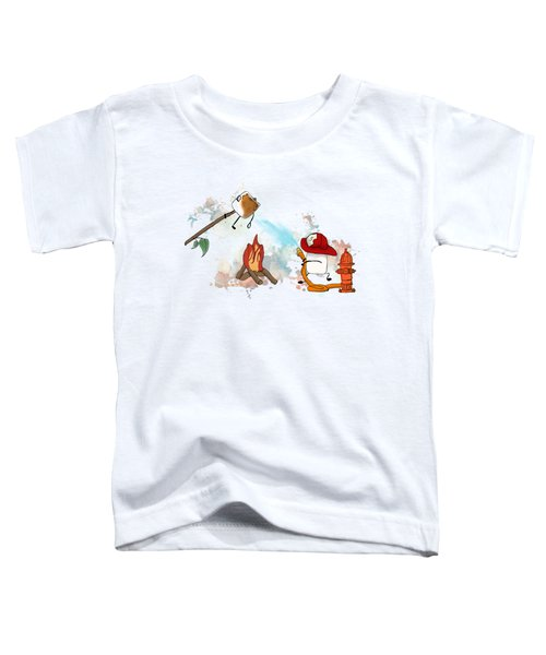 Too Toasted Illustrated Toddler T-Shirt