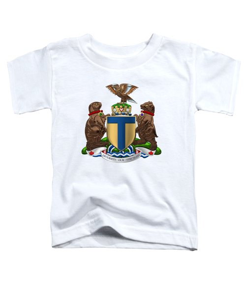 Toronto - Coat Of Arms Over White Leather  Toddler T-Shirt