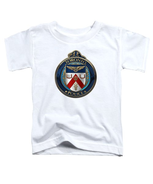 Toronto Police Service  -  T P S  Emblem Over White Leather Toddler T-Shirt