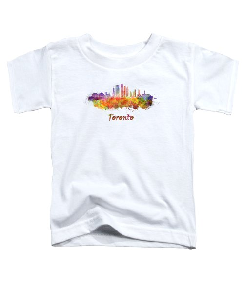 Toronto V2 Skyline In Watercolor Toddler T-Shirt