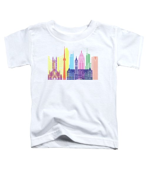 Toronto V2 Skyline Pop Toddler T-Shirt