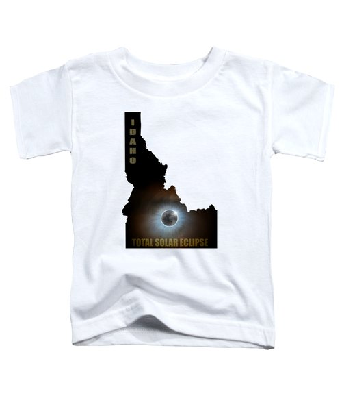 Total Solar Eclipse In Idaho Map Outline Toddler T-Shirt