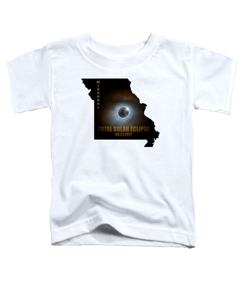 Total Solar Eclipse In Missouri Map Outline Toddler T-Shirt