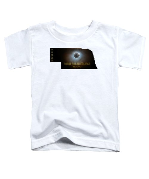 Total Solar Eclipse In Nebraska Map Outline Toddler T-Shirt