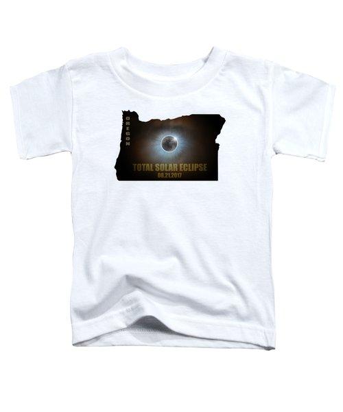 Total Solar Eclipse In Oregon Map Outline Toddler T-Shirt