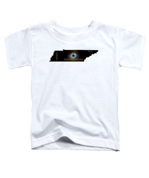 Total Solar Eclipse In Tennessee Map Outline Toddler T-Shirt