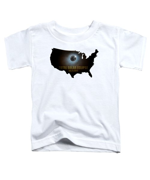 Total Solar Eclipse In United States Map Outline Toddler T-Shirt
