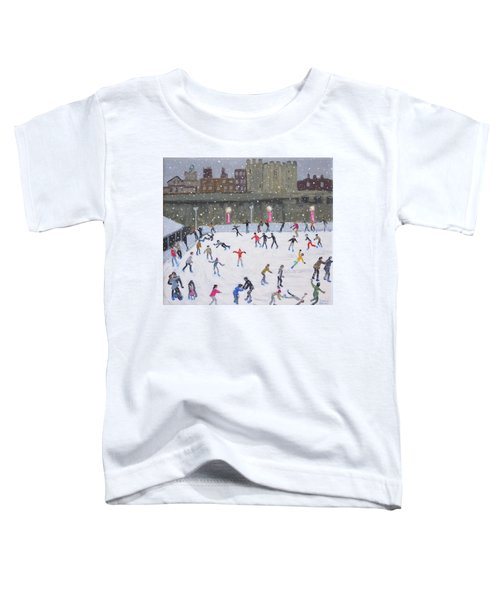 Tower Of London Ice Rink Toddler T-Shirt by Andrew Macara