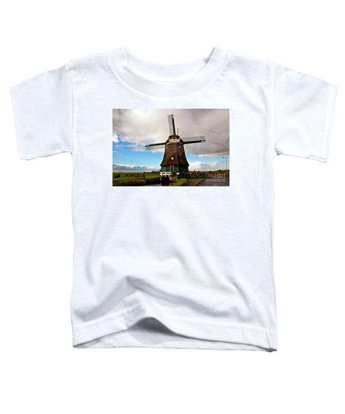 Traditional Dutch Windmill Near Volendam  Toddler T-Shirt