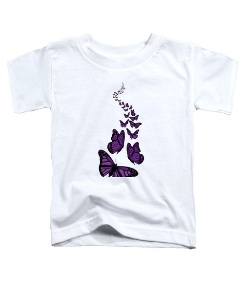 Trail Of The Purple Butterflies Transparent Background Toddler T-Shirt
