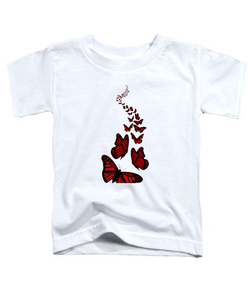 Trail Of The Red Butterflies Transparent Background  Toddler T-Shirt