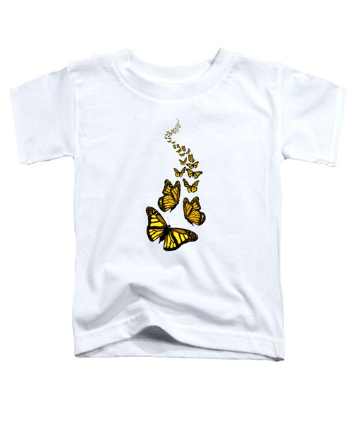 Trail Of The Yellow Butterflies Transparent Background Toddler T-Shirt