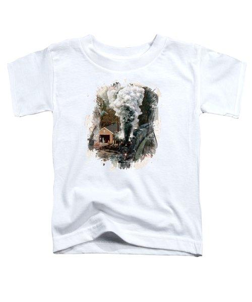 Train Days Toddler T-Shirt by Florentina Maria Popescu