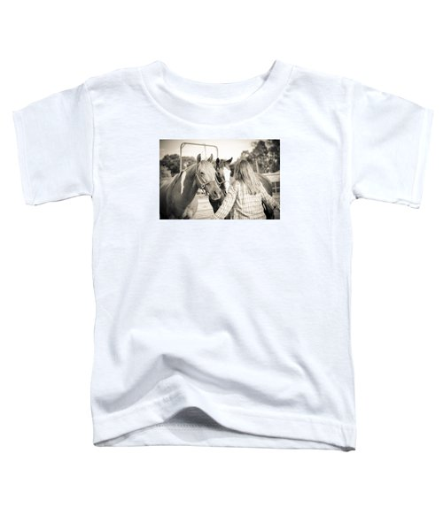 Training The Horses In Sepia Toddler T-Shirt