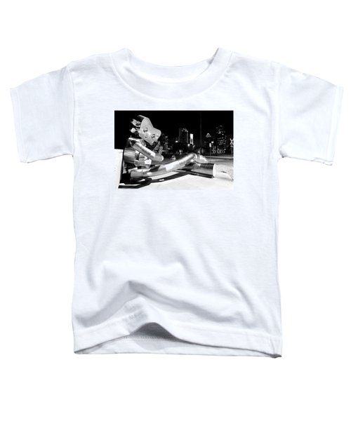Waiting On The Train 8916 Bw Toddler T-Shirt