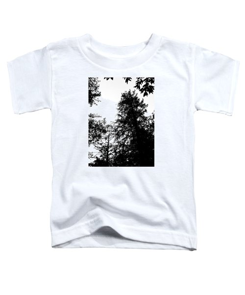 Tree Tops In Monotone Toddler T-Shirt