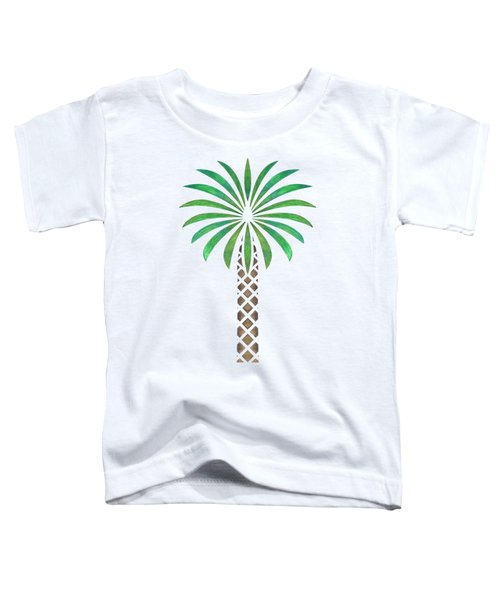 Tribal Canary Date Palm Toddler T-Shirt by Heather Schaefer