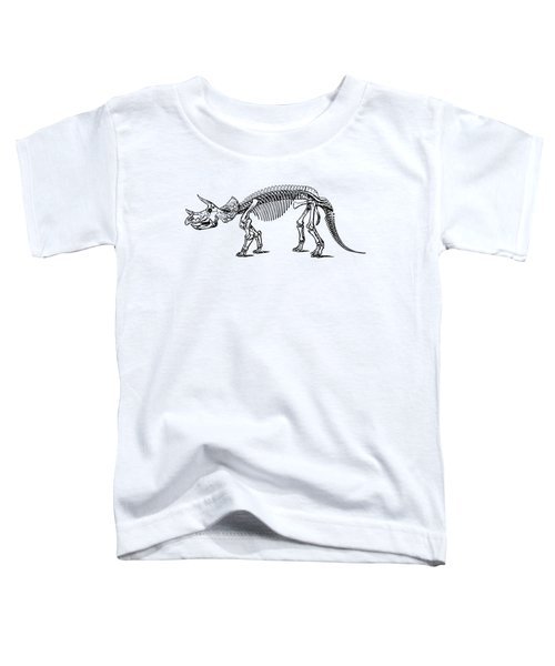 Triceratops Dinosaur Tee Toddler T-Shirt by Edward Fielding
