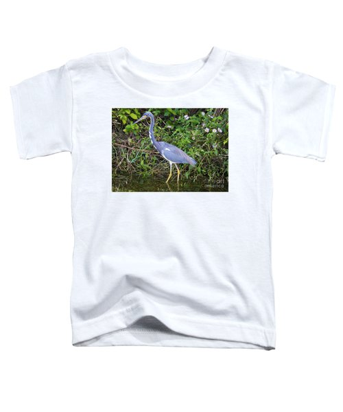 Tricolored Heron Hunting Toddler T-Shirt