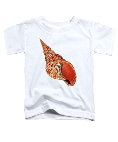 Triton Shell On White Vertical Toddler T-Shirt