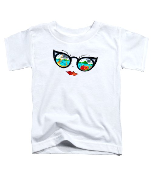 Tropical Cat Eyes Sunglass Reflection Aroon Melane 2015 Collection By Madart Toddler T-Shirt