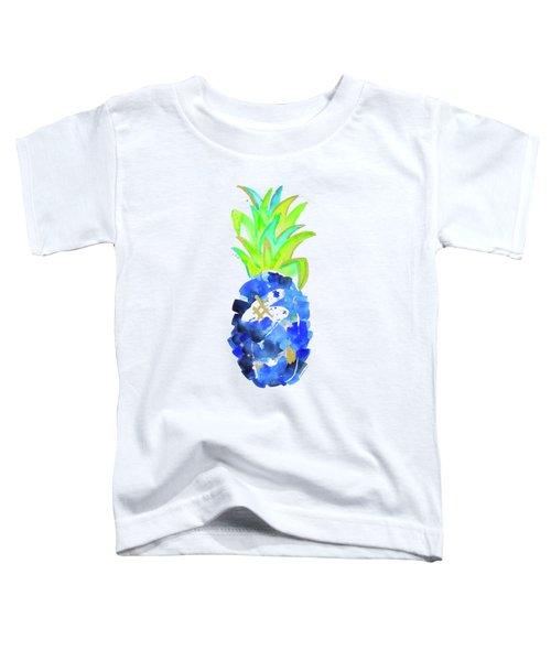 Tropical Cobalt Blue Pineapple Toddler T-Shirt