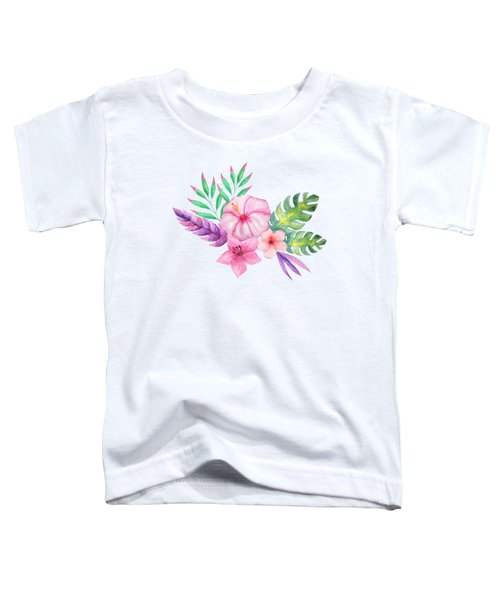 Tropical Watercolor Bouquet 1 Toddler T-Shirt
