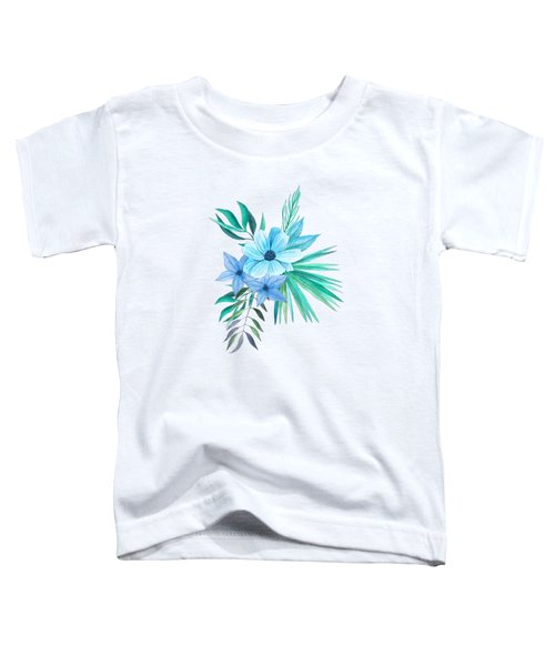 Tropical Watercolor Bouquet 10 Toddler T-Shirt