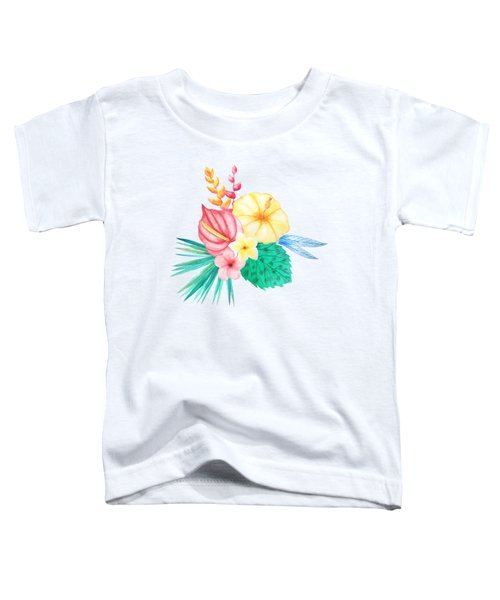 Tropical Watercolor Bouquet 2 Toddler T-Shirt