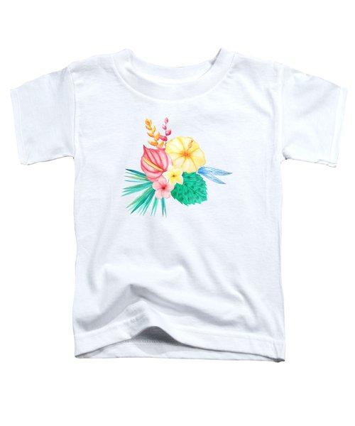Tropical Watercolor Bouquet 2 Toddler T-Shirt