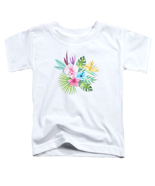 Tropical Watercolor Bouquet 3 Toddler T-Shirt