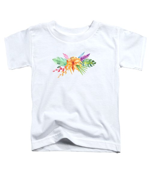 Tropical Watercolor Bouquet 4 Toddler T-Shirt