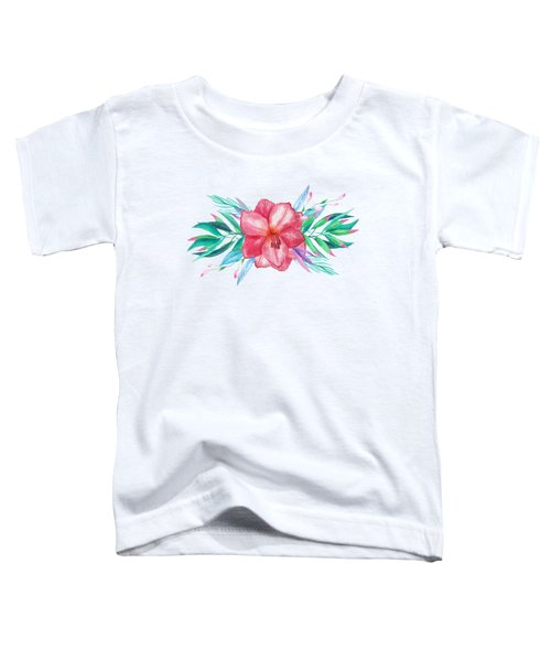 Tropical Watercolor Bouquet 5 Toddler T-Shirt