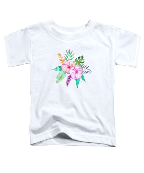 Tropical Watercolor Bouquet 78 Toddler T-Shirt