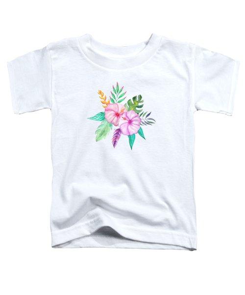 Tropical Watercolor Bouquet 78 Toddler T-Shirt