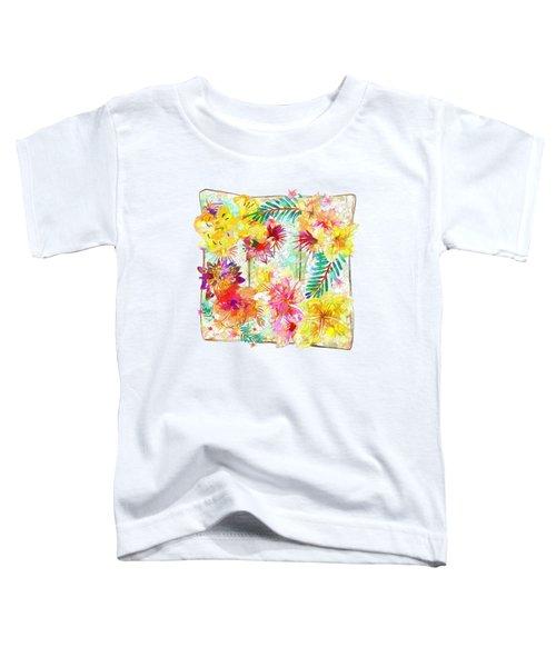 Tropicana Abstract By Kaye Menner Toddler T-Shirt by Kaye Menner
