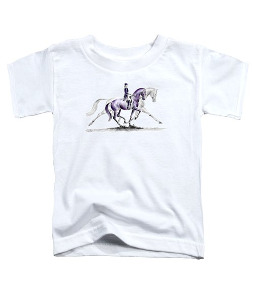 Trot On - Dressage Horse Print Color Tinted Toddler T-Shirt
