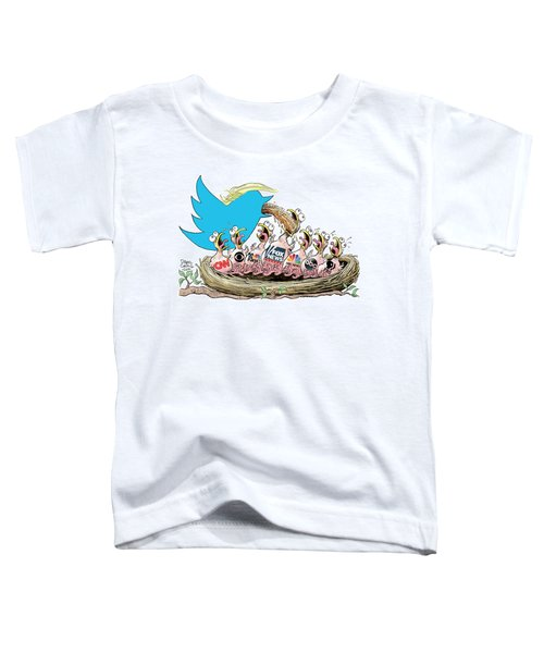 Trump Twitter And Tv News Toddler T-Shirt