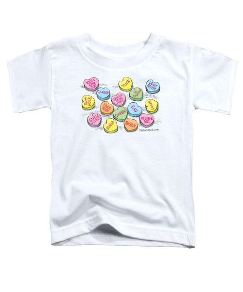 Trump Valentines Candy Uncensored Toddler T-Shirt