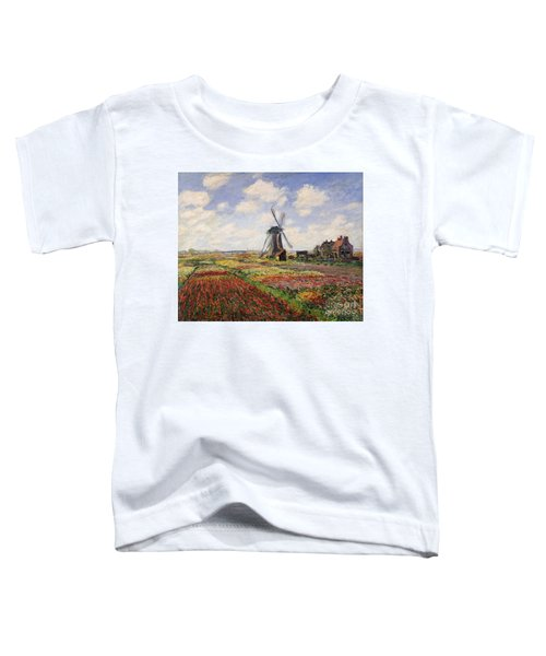 Tulip Fields With The Rijnsburg Windmill Toddler T-Shirt